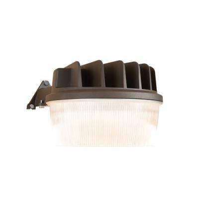 30-Watt Bronze Outdoor Integrated LED Dusk to Dawn Security Area Light with Integral Photocontrol Sensor
