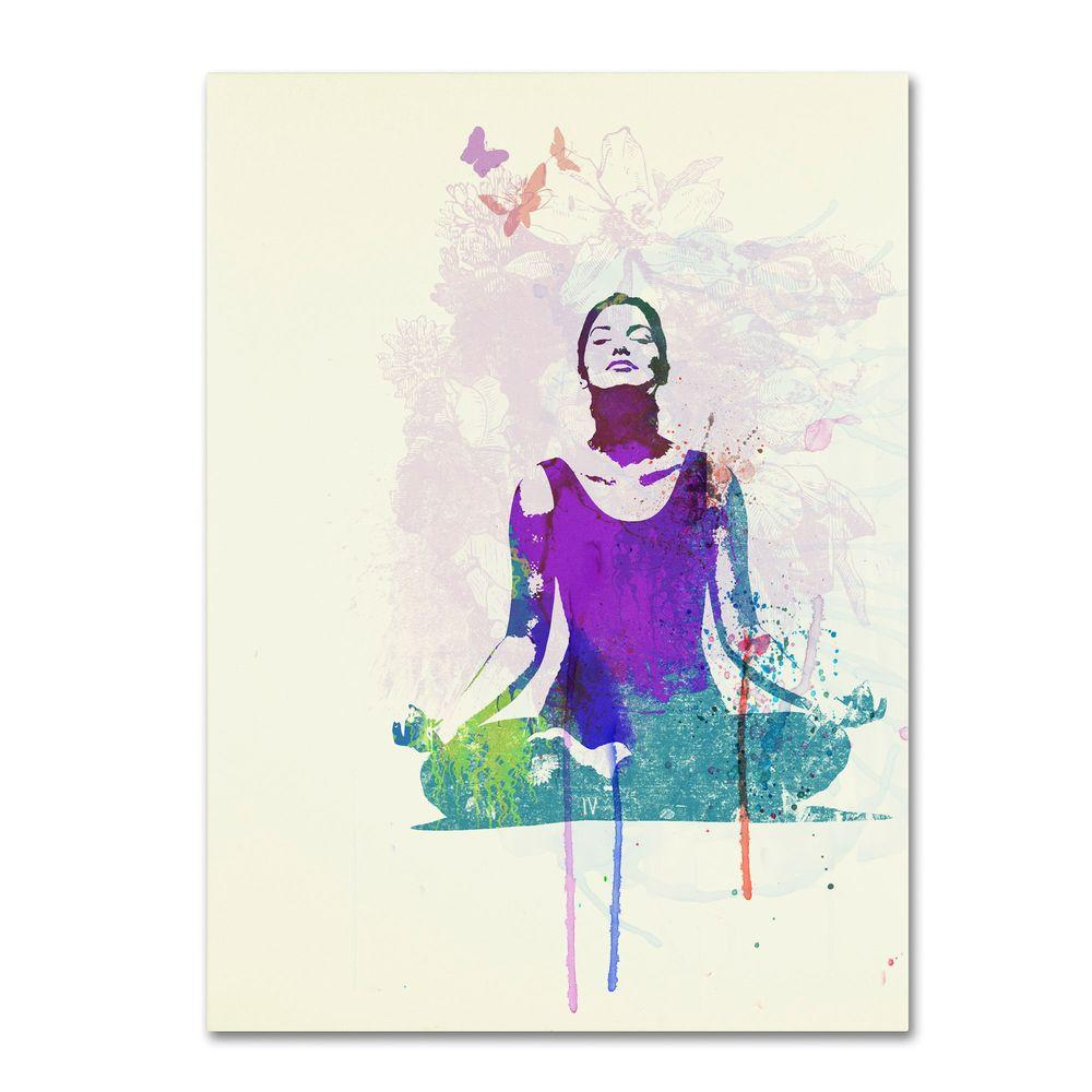 Trademark Fine Art 19 in. x 14 in. Meditating Mind Canvas Art