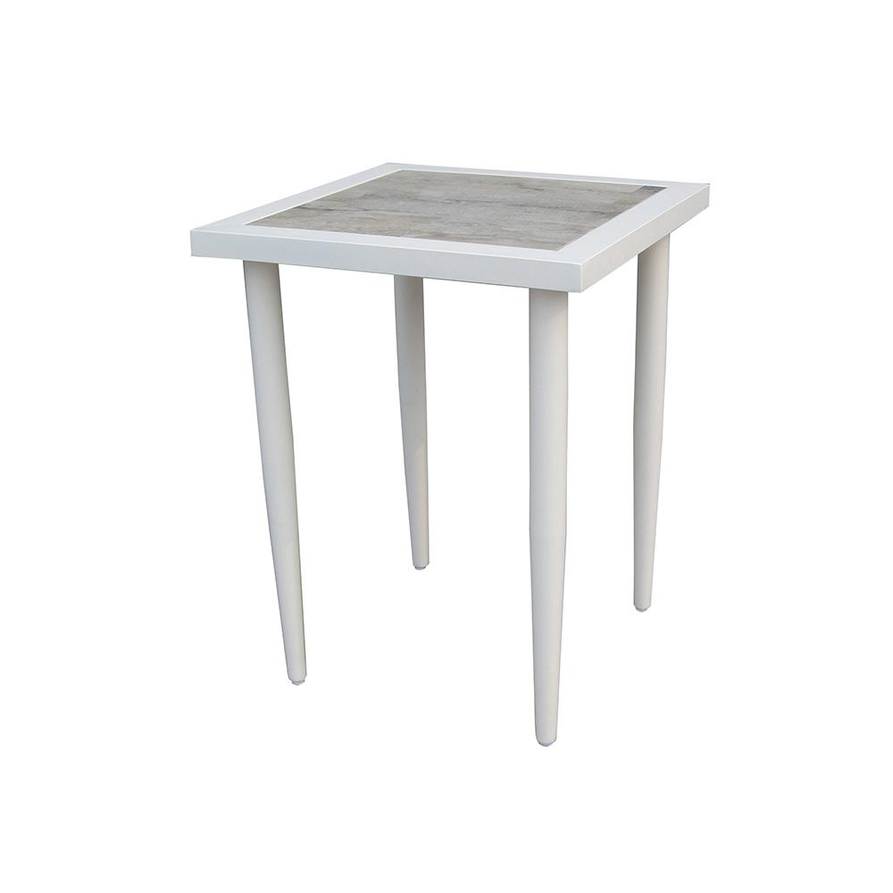 Hampton Bay Alveranda Square Metal Outdoor Accent Table