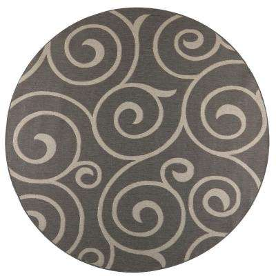 Whirl Grey Champagne 9 Ft X Round Indoor Outdoor Area