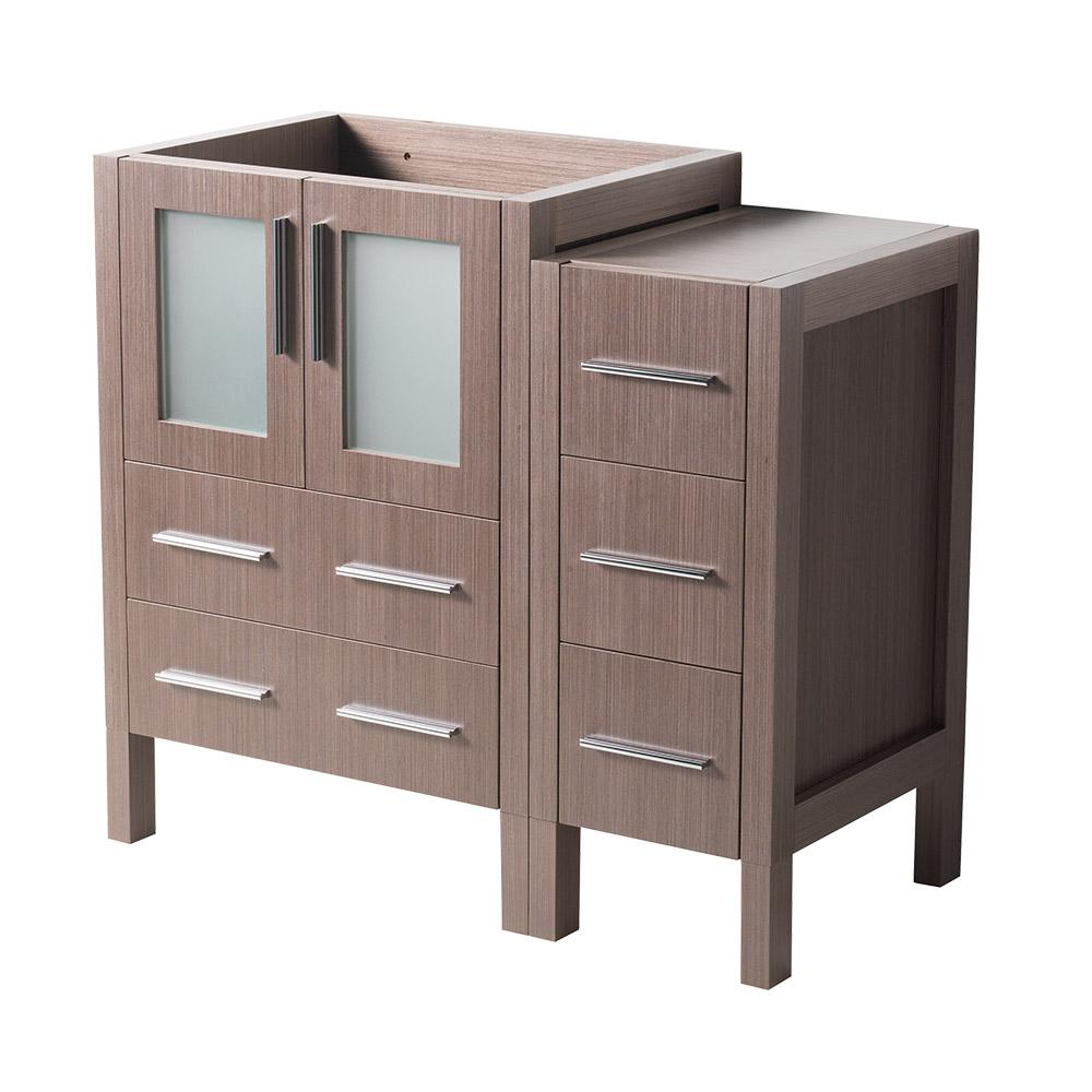 36 in. Torino Modern Bathroom Vanity Cabinet in Gray Oak