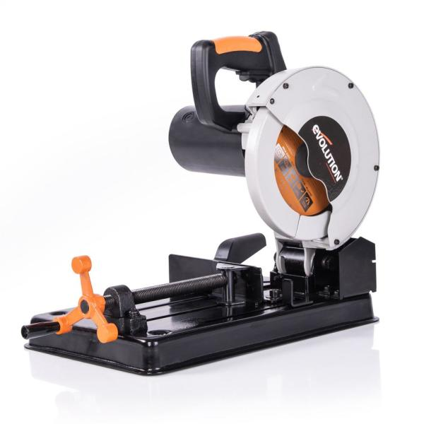 Evolution Power Tools 10 Amp 7 1 4 In Chop Saw With Multi Material 20 T Blade Rage4 The Home Depot