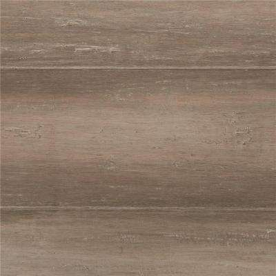 Take Home Sample - Hand Scraped Strand Woven Light Taupe Click Bamboo Flooring - 5 in. x 7 in.