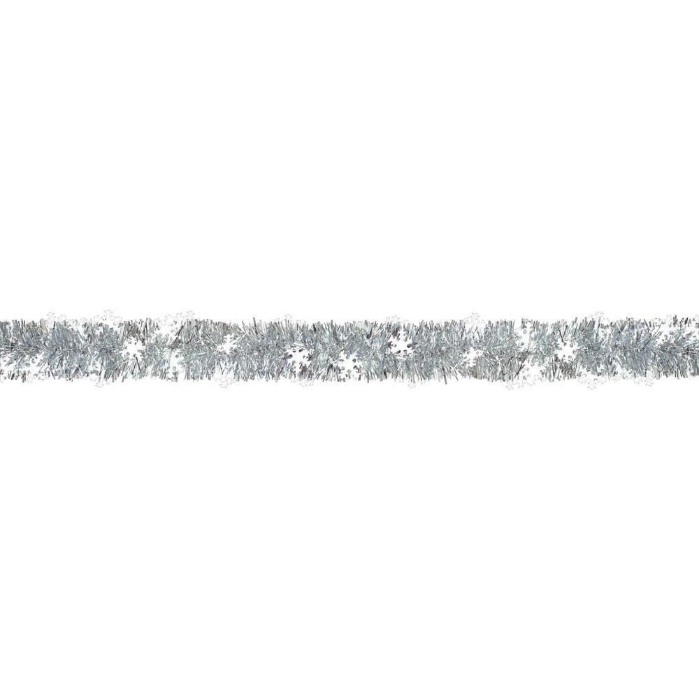9 ft. Snowflake Tinsel Boa Garland (2-Pack)