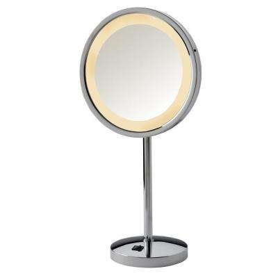 Led Lighted Table Top Mirror In Chrome