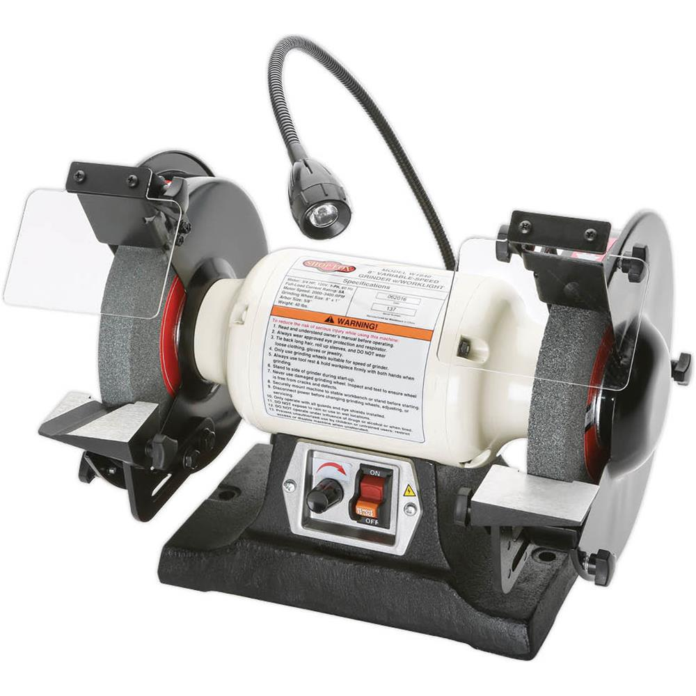 Brilliant Shop Fox 8 In Variable Speed Grinder With Worklight Evergreenethics Interior Chair Design Evergreenethicsorg