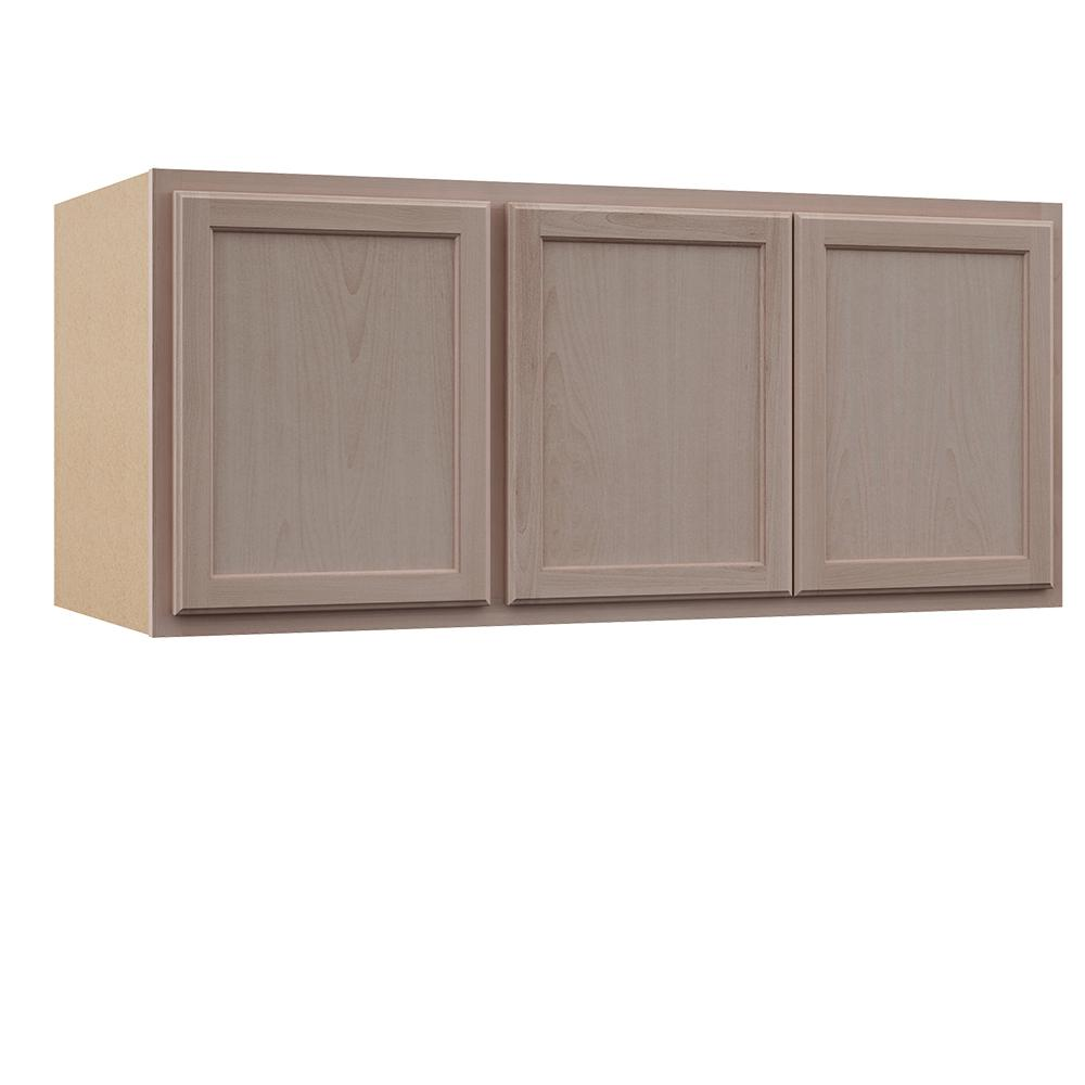 Reviews For Hampton Bay Hampton Assembled 54x24x12 In Wall Kitchen Cabinet In Unfinished Beech Kw5424 Uf The Home Depot