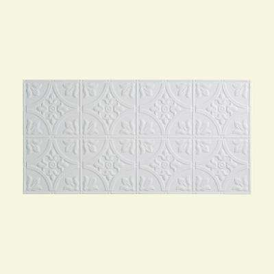 Traditional Style # 2 - 2 ft. x 4 ft. Vinyl Glue-Up Ceiling Tile in Matte White