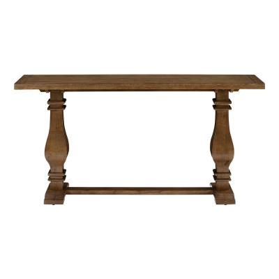 Eldridge 63 in. Brown Standard Rectangle Wood Console Table