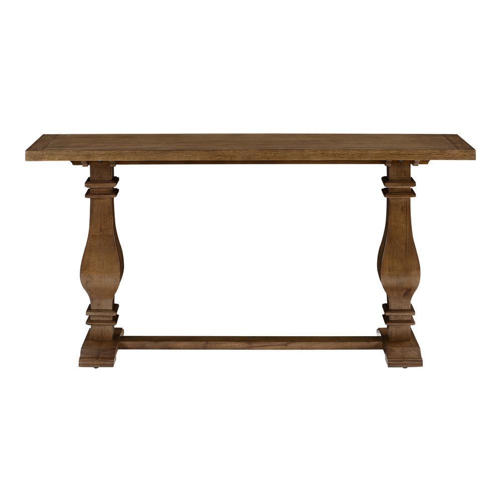 Eldridge 63 in. Brown Standard Rectangle Wood Console Table