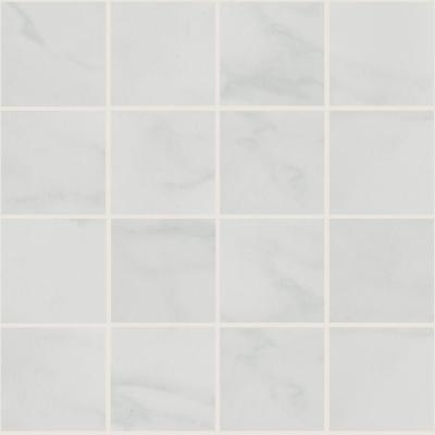 Marissa Carrara 12 in. x 12 in. x 6 mm Ceramic Mosaic Floor and Wall Tile (1 sq. ft. / piece)