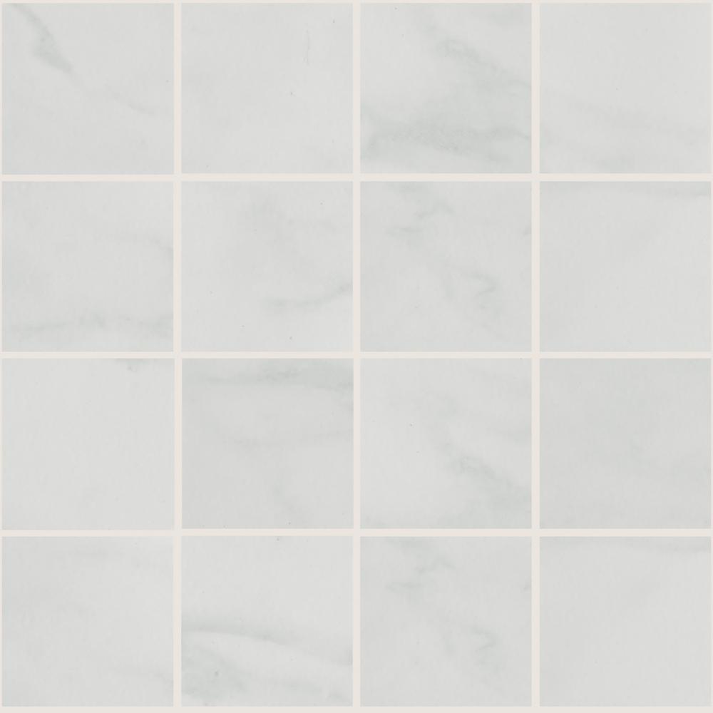 Marissa Carrara 12 in. x 12 in. x 6 mm Ceramic Mosaic Floor and Wall Tile (1 sq. ft. / piece)