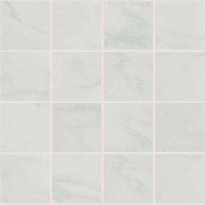 Marissa Carrara 12 in. x 12 in. x 6 mm Ceramic Mosaic Tile