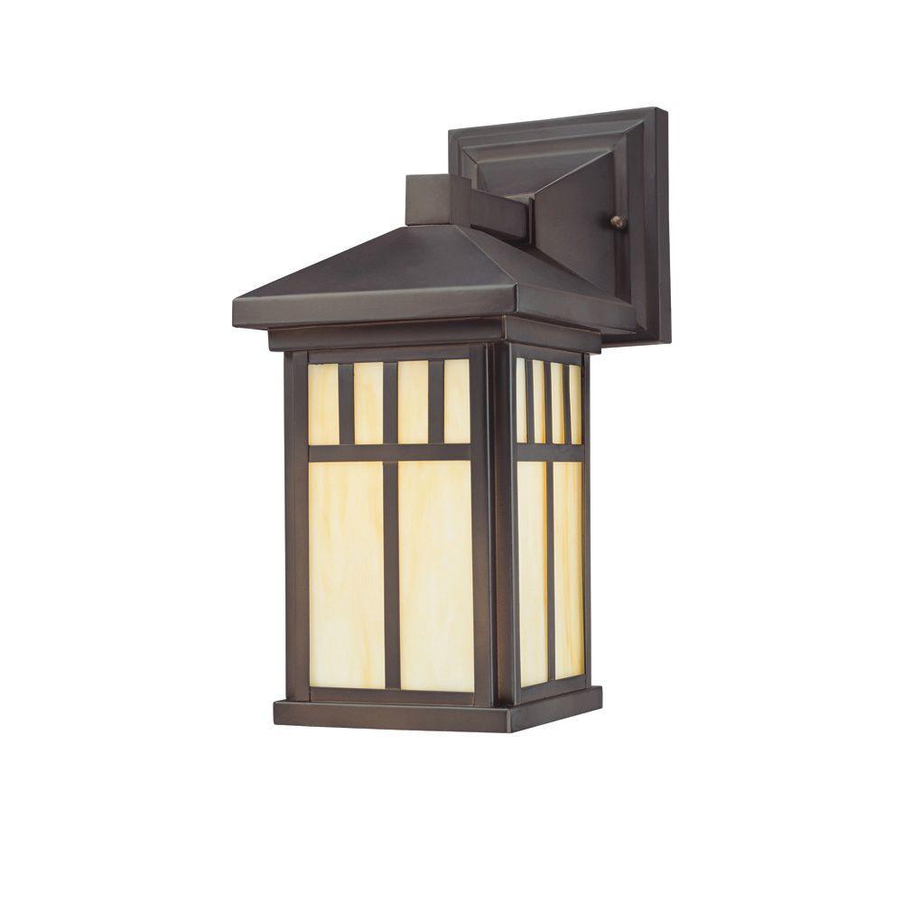 Burnham 1-Light Oil Rubbed Bronze Outdoor Wall-Mount Lantern