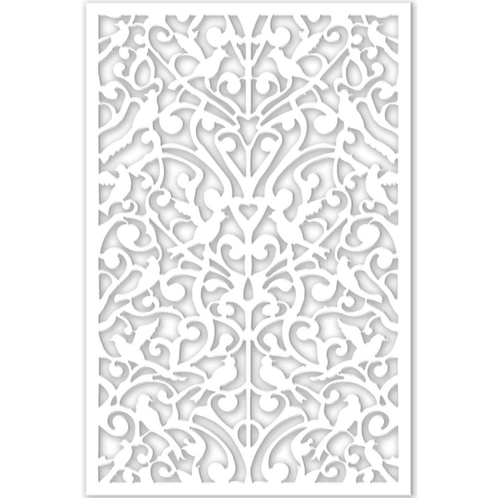 Acurio latticeworks 1 4 in x 32 in x 4 ft white ginger for Porch screen panels home depot