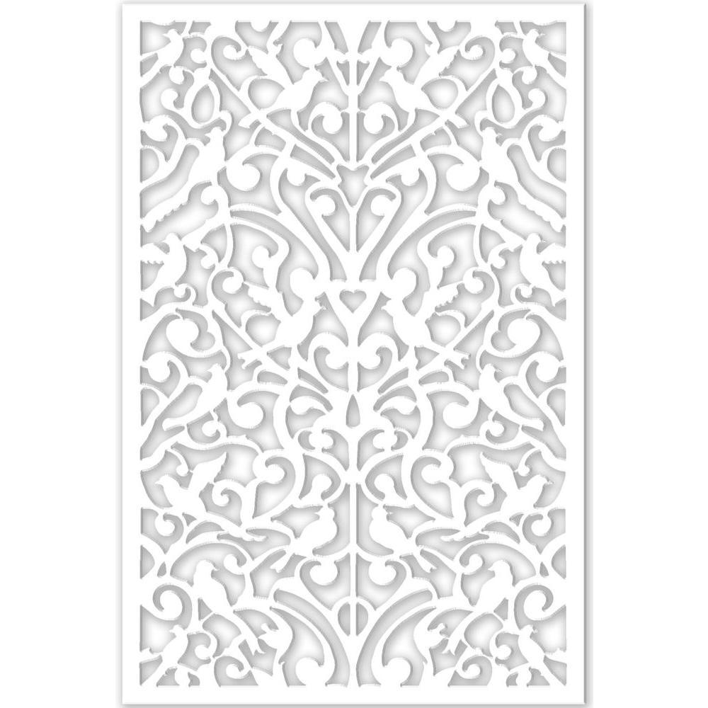 Acurio Latticeworks 1 4 In X 32 In X 4 Ft White Ginger