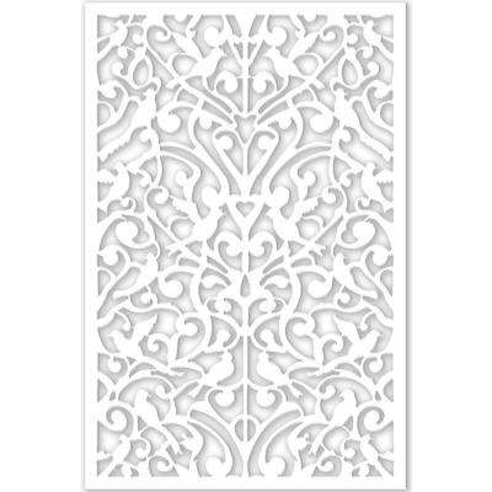 1/4 in. x 32 in. x 4 ft. White Ginger Dove Vinyl Decor Panel