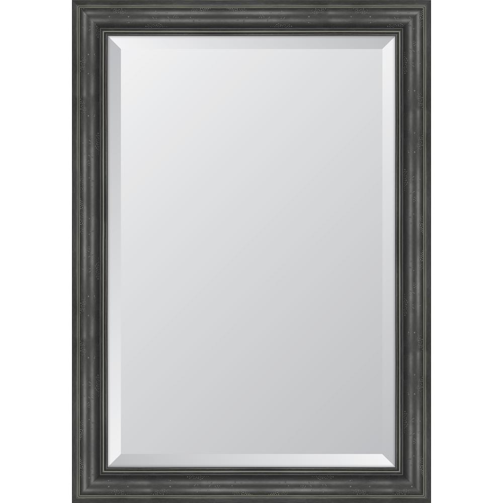 30 in. x 42 in. Black English Pine Resin Frame Mirror