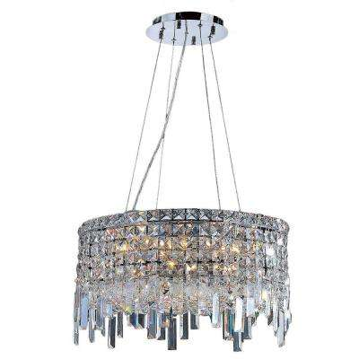 Cascade Collection 12-Light Polished Chrome and Crystal Chandelier