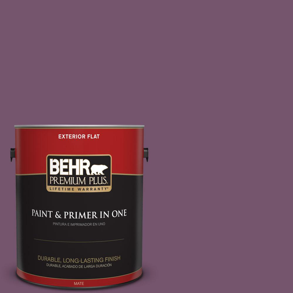 1-gal. #PMD-87 Exotic Orchid Flat Exterior Paint