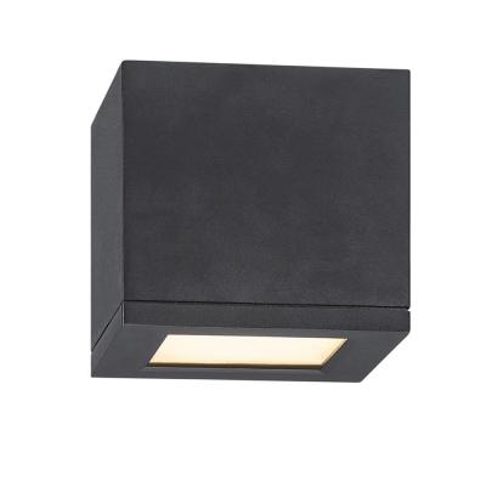 Rubix 5 in. 1-Light Black ENERGY STAR LED Indoor or Outdoor Flush Mount