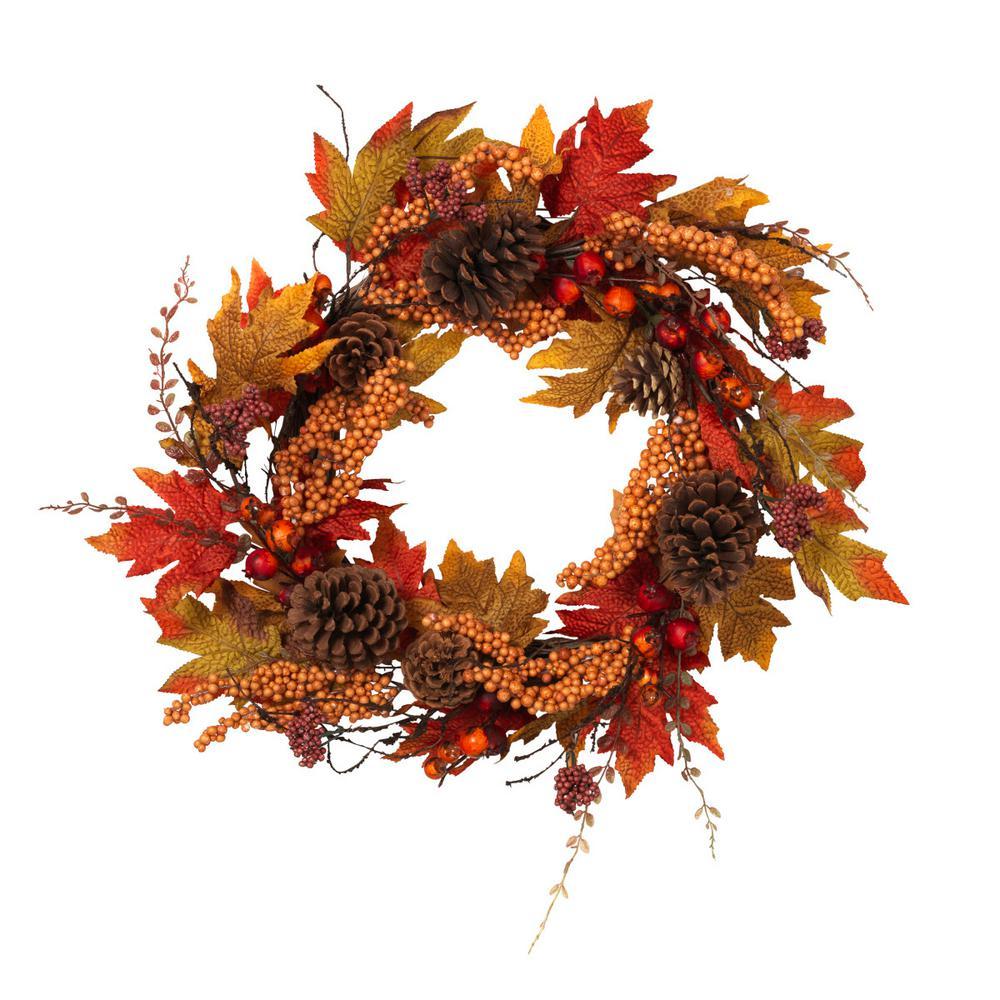 22 in. Fall Twig Wreath