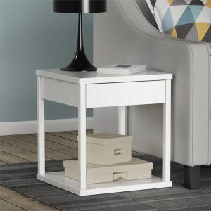 Altra Furniture Parsons White End Table by Altra Furniture