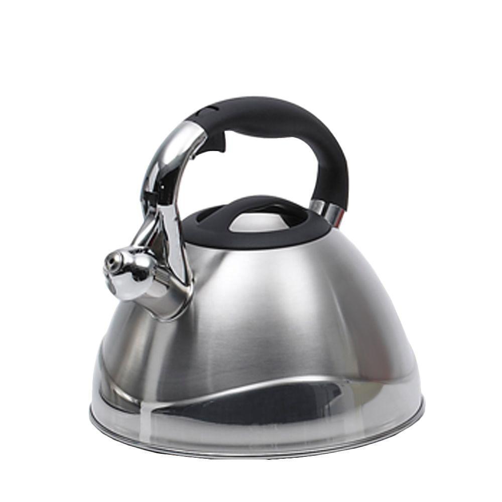 Crescendo 12.4-Cup Stovetop Tea Kettle in Silver
