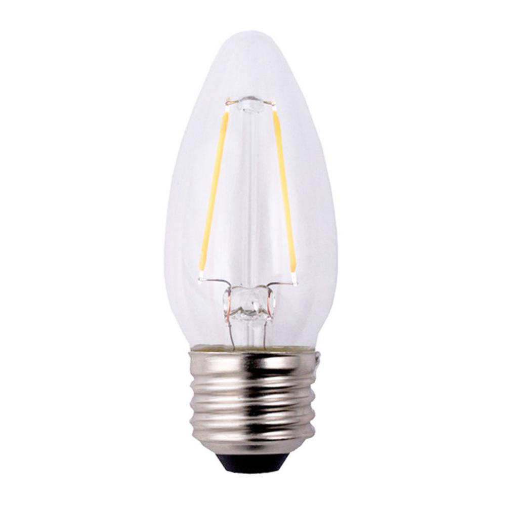 Ecosmart 40w Equivalent Soft White A19 Dimmable Filament: EcoSmart 40W Equivalent Soft White B11 Filament Dimmable