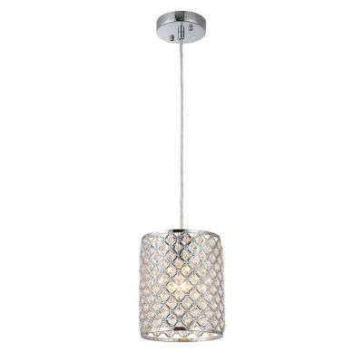 Botvi 1-Light Chrome Drum Pendant