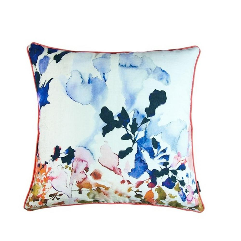 A1hc Hand Painted Look Fl Geometric 20 In Feather And Down Filled Decorative Pillow