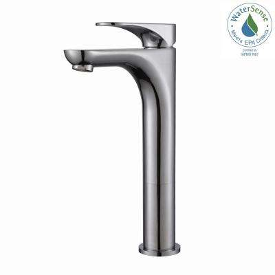 Aquila Single Hole Single-Handle Vessel Bathroom Faucet in Chrome