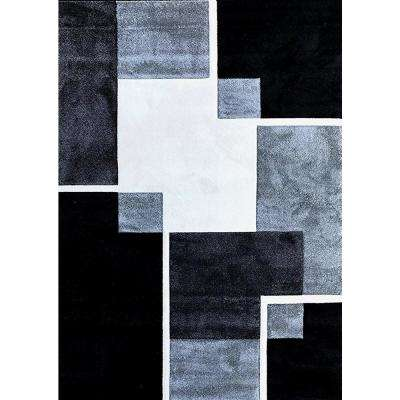 Renzo Collection Black 8ft. x 10 ft. Area Rug