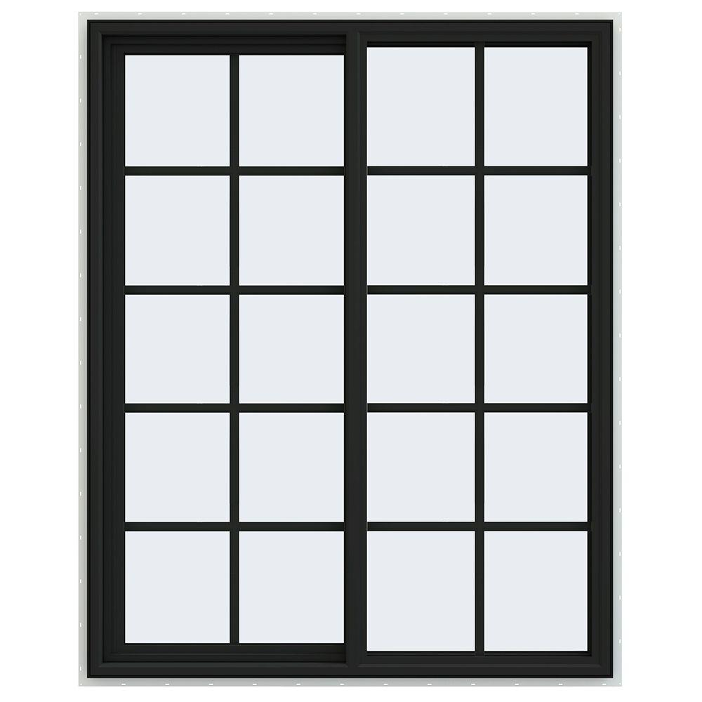 47.5 in. x 59.5 in. V-4500 Series Left-Hand Sliding Vinyl Window