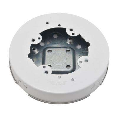 700 Series White Metal Surface Raceway Circular Electrical Box