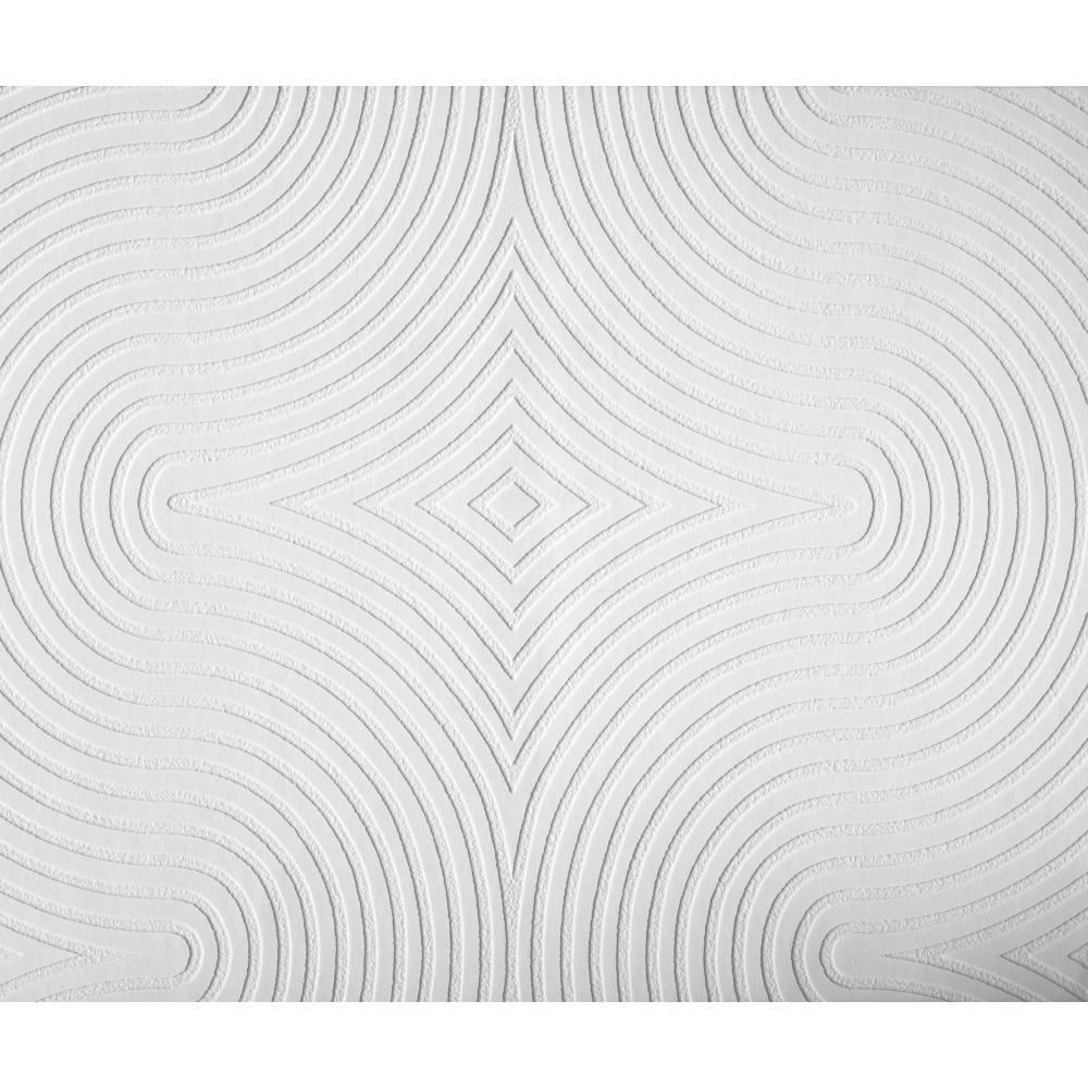 York Wallcoverings 57.75 sq. ft. Patent Decor Diamond S Curve Paintable Dado Wallpaper