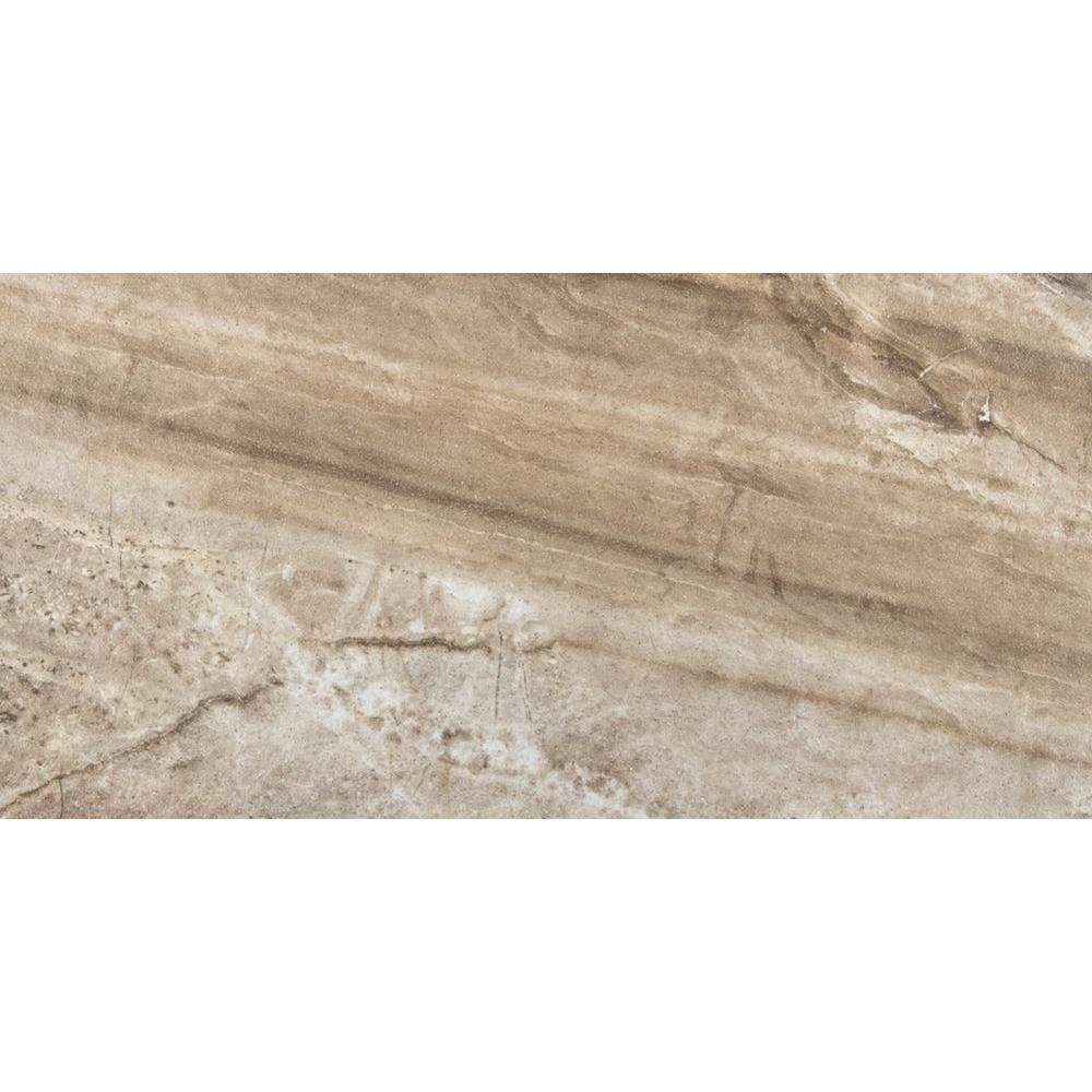 Europa Cafe Polished 11 In X 23 In Porcelain Floor And Wall Tile 12 88 Sq Ft Case 1176770 The Home Depot