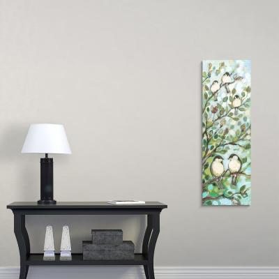 """12 in. x 36 in. """"Mos Chickadees"""" by  Jennifer Lommers Canvas Wall Art"""