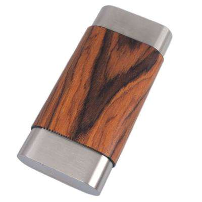 Terran Natural Wood and Stainless Steel Cigar Case