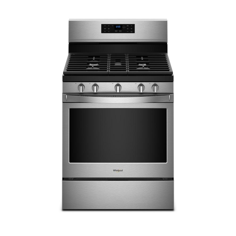 Whirlpool Whirlpool 5 cu. ft. Gas Range with Fan Convection Cooking in Fingerprint Resistant Stainless Steel