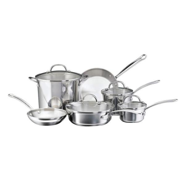 Farberware Millennium 10-Piece Stainless Steel Cookware Set with Lids 75653