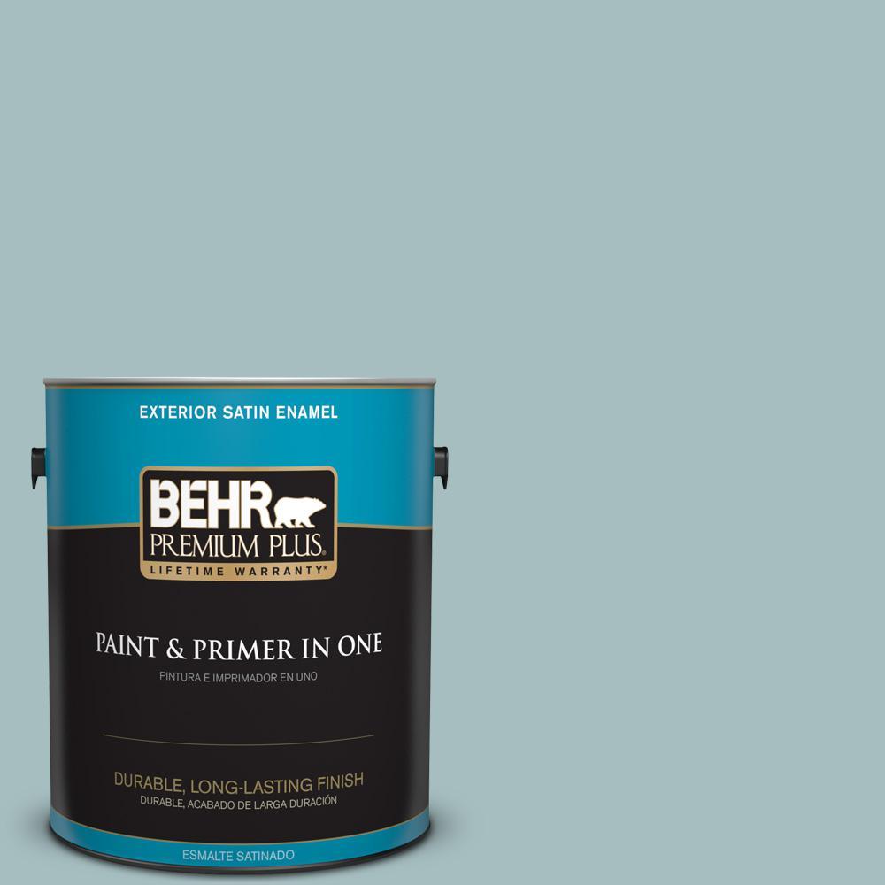 1 gal. #PPU13-13 Oslo Blue Satin Enamel Exterior Paint