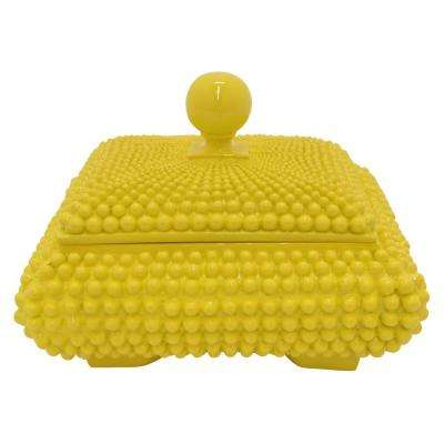 7 in. Covered Box Yellow Yellow