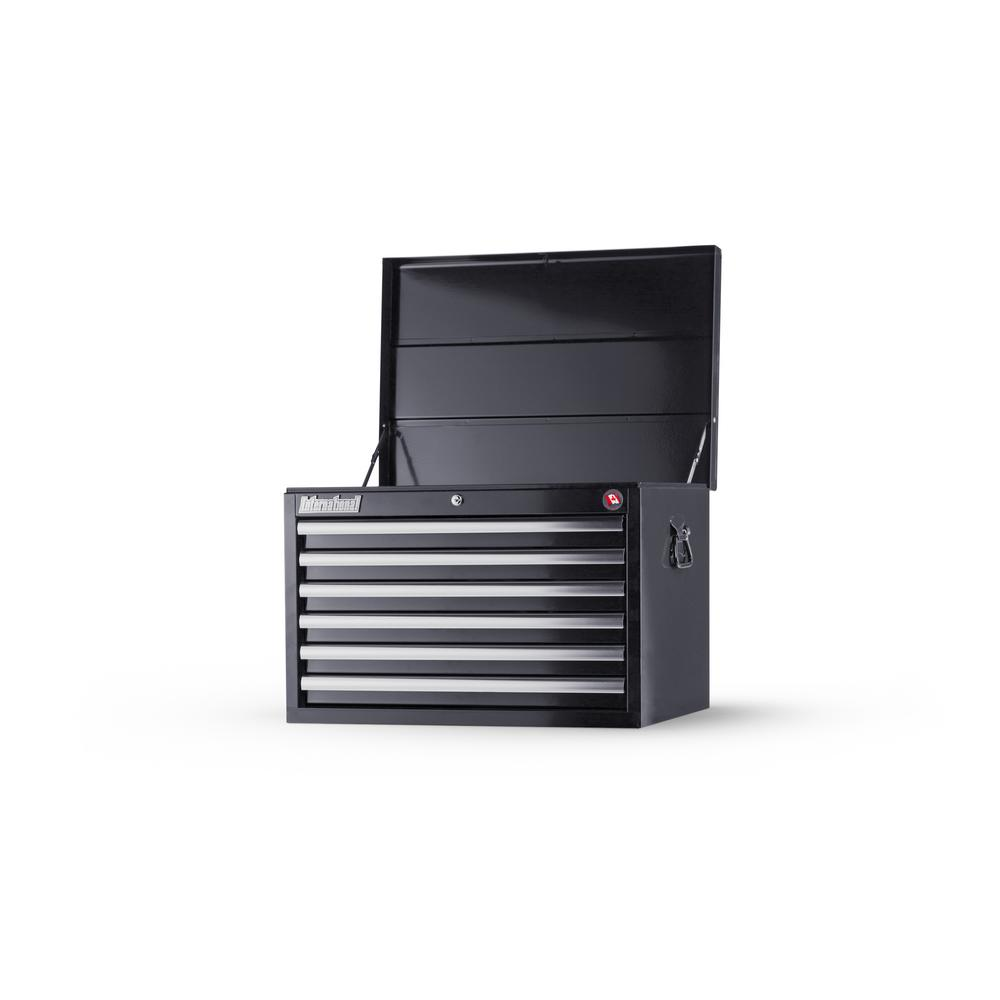 null Tech Series 27 in. 6-Drawer Top Chest, Black