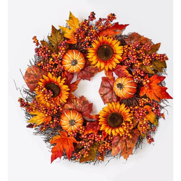 26 in. Oak Leaf Berry Wreath