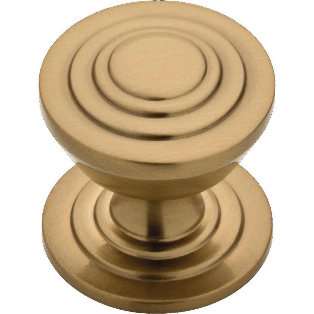 Julian 1-3/16 in. (30 mm) Champagne Bronze Disc Cabinet Knob (25-Pack)