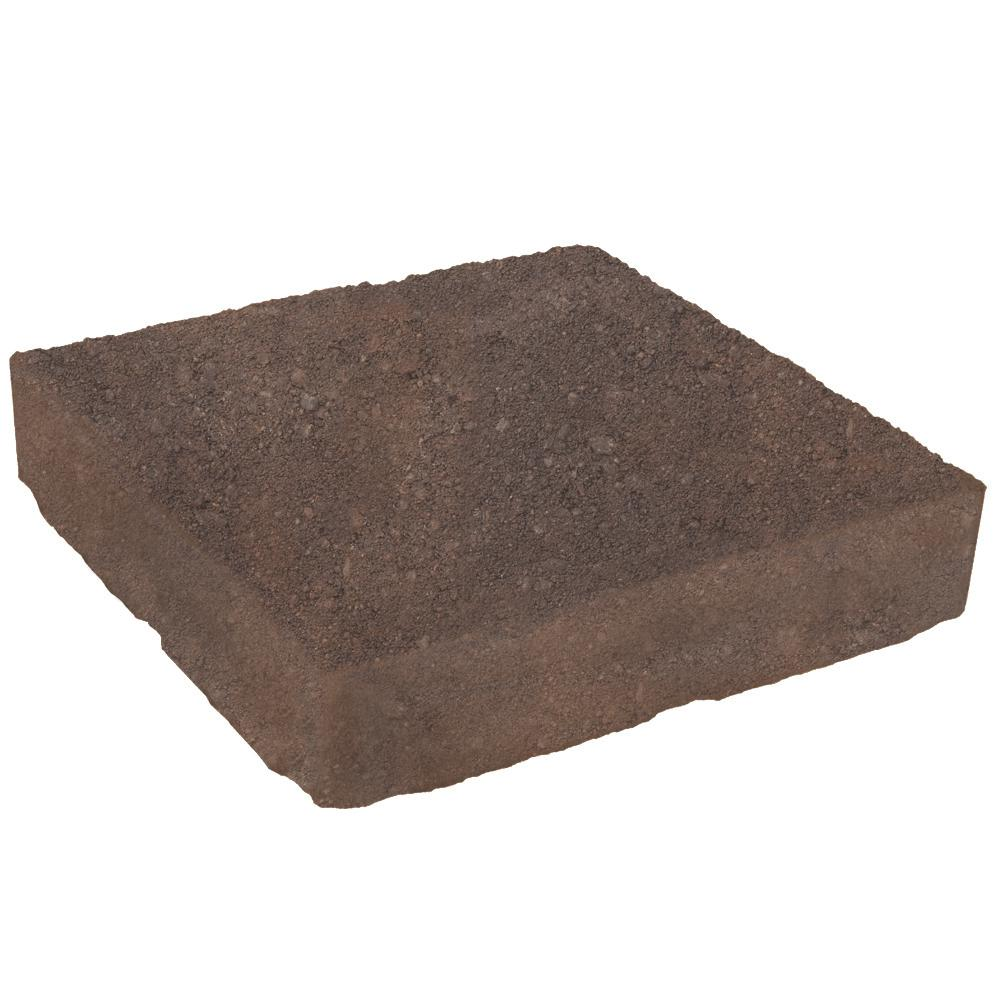 Domino 12 in. x 12 in. Sierra Blend Brown/Charcoal Concrete Paver