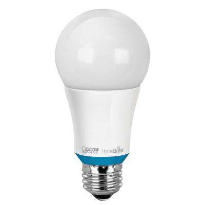 60W Equivalent Soft White (2700K) A19 Dimmable HomeBrite Bluetooth Smart LED Light Bulb