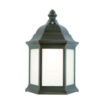 Outdoor Oil-Rubbed Bronze LED Wall Lantern Sconce