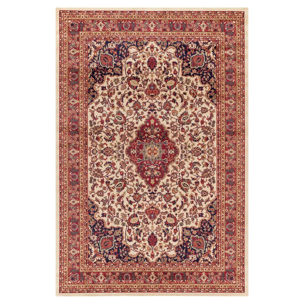 Concord Global Trading Jewel Heriz Ivory 6 ft. 7 in. x 9 ft. 3 in. Area Rug
